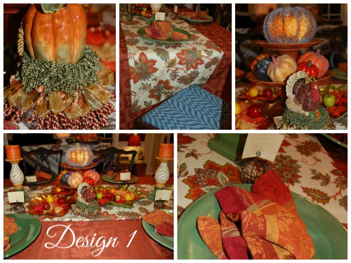 Fall Tablescape Design 1 Collage