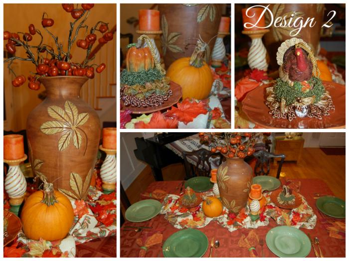 Fall Tablescape Design 2 Collage