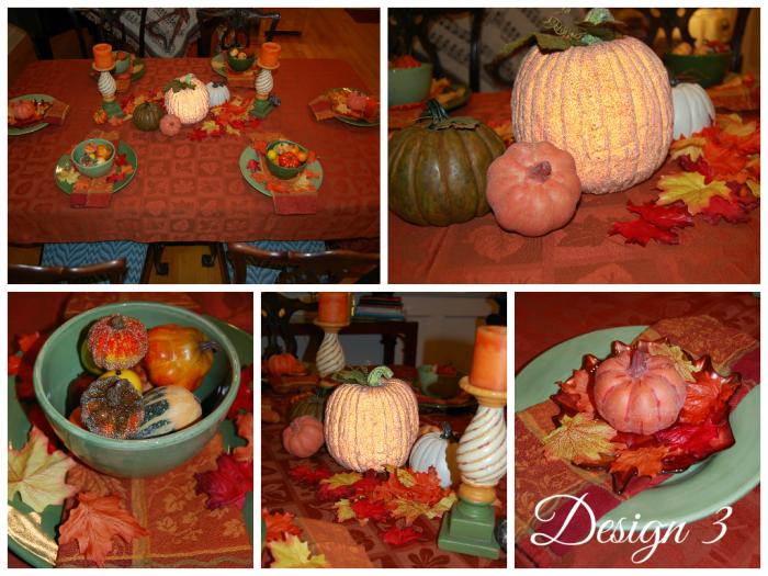 Fall Tablescape Design 3 Collage