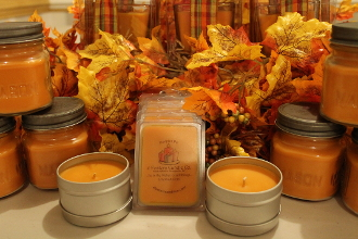 Pumpkin Pie Square Mason Jar from 4 Fosters Candle Company