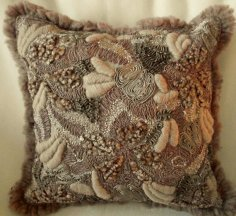 Wool Textured Pillow Cover Mocha from Edward John Home Decor