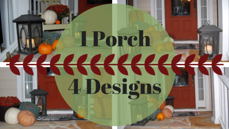 Fall Front Porches|1 Porch, 4 Designs|classictasselsandmore.com