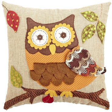 Harvest Applique Owl Pillow from Pier 1 Imports