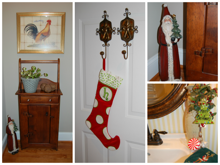 Bathroom & Hall-Classic Tassels Christmas Home Tour