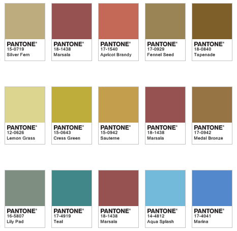 Marsala Pairings by Pantone 3
