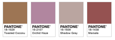 Marsala Pairings by Pantone 2