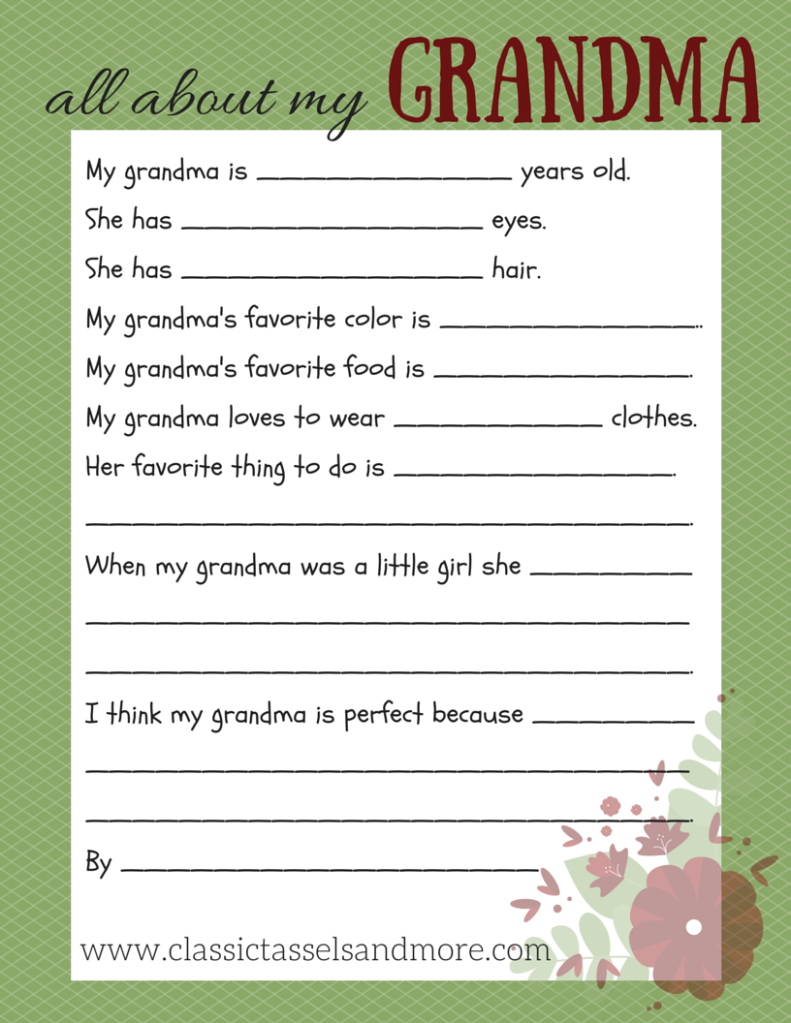 All About My Grandmom