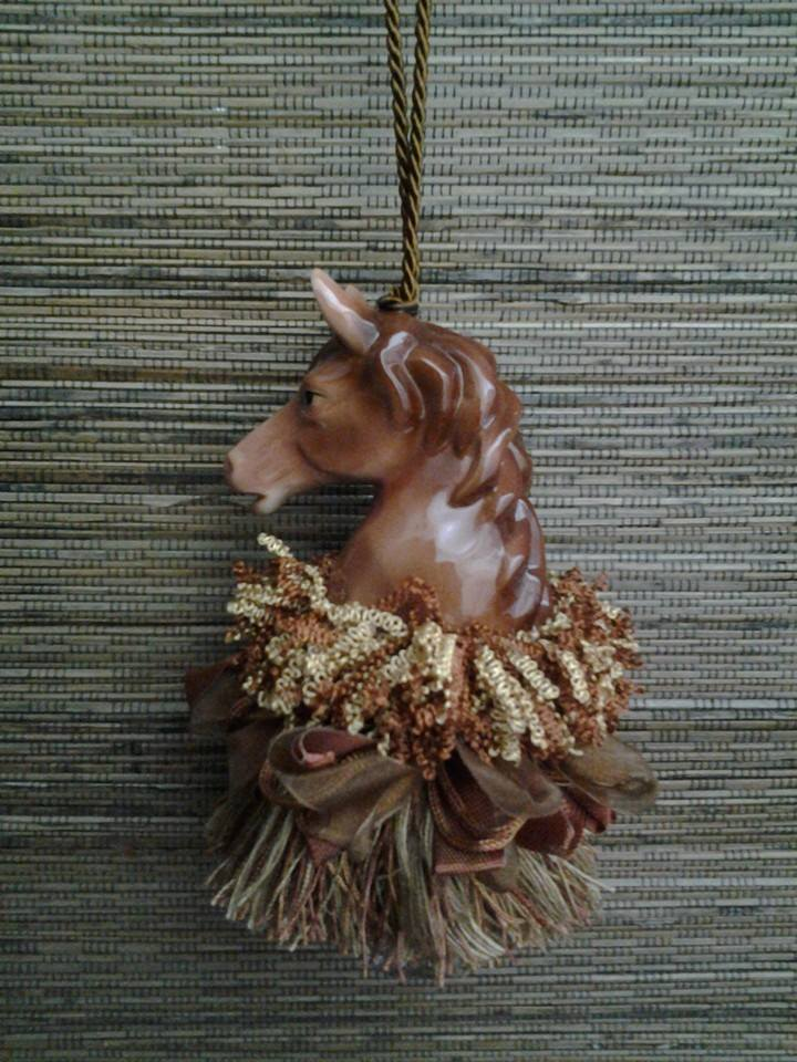 Brown Stallion Horse Tassel | $44.95 | www.classictasselsandmore.com