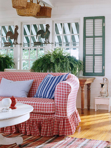 A Cottage in Red, White, & Blue from BHG