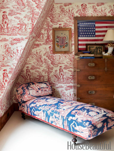 Patriotic Rooms from House Beautiful