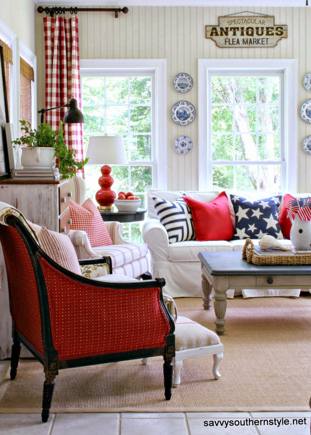 Stars and Stripes Sunroom from Savvy Southern Style