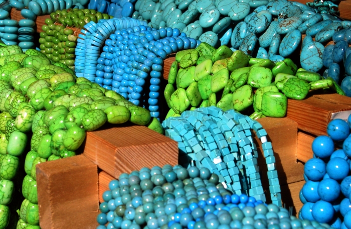 Blue and Green necklaces