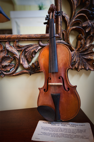 Vintage Violin at The Curious Peddler