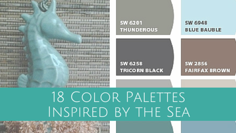 18 Color Palettes Inspired by the Sea with Classic Tassels and More