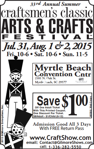 Craftsmen's Classic Summer Coupon 2015