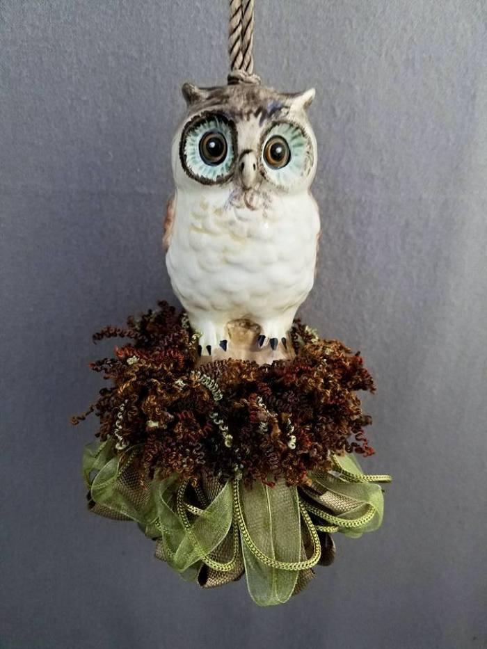 Wide-Eyed Owl Tassel   www.classictasselsandmore.com