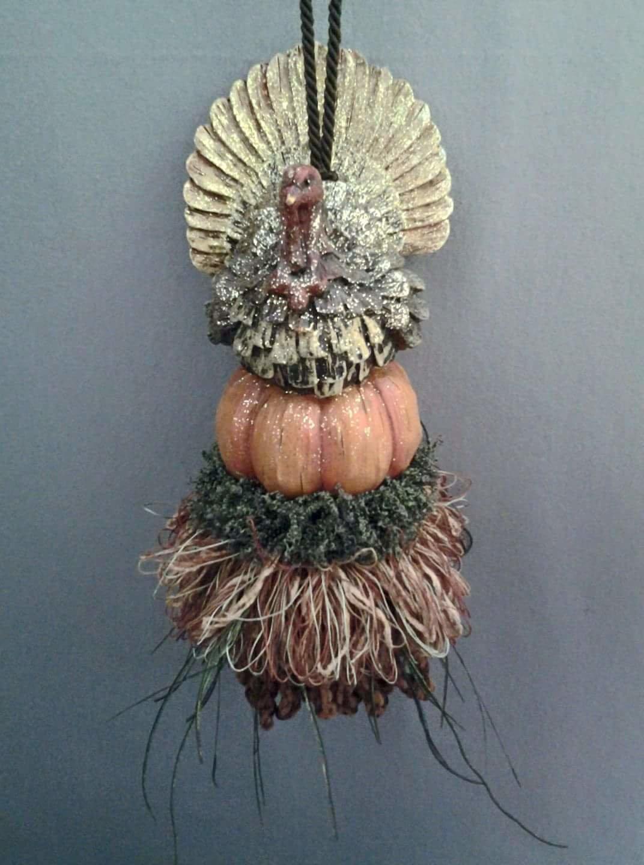 Shimmer Turkey Pumpkin Tassel | www.classictasselsandmore.com
