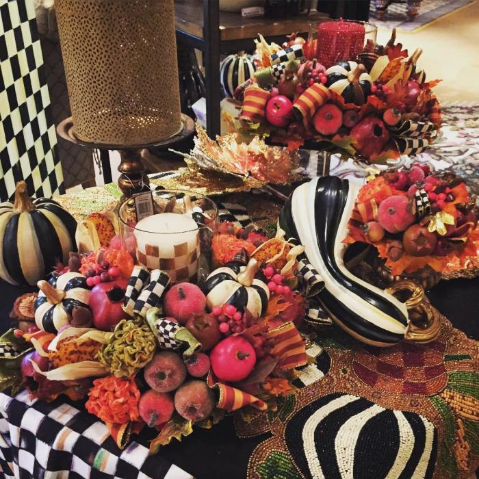 Black and White Pumpkins from Mackenzie Childs|classictasselsandmore.com