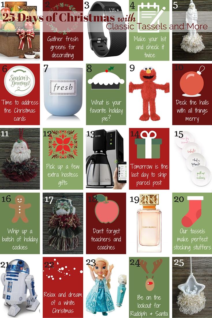 25 Days of Christmas|classictasselsandmore.com