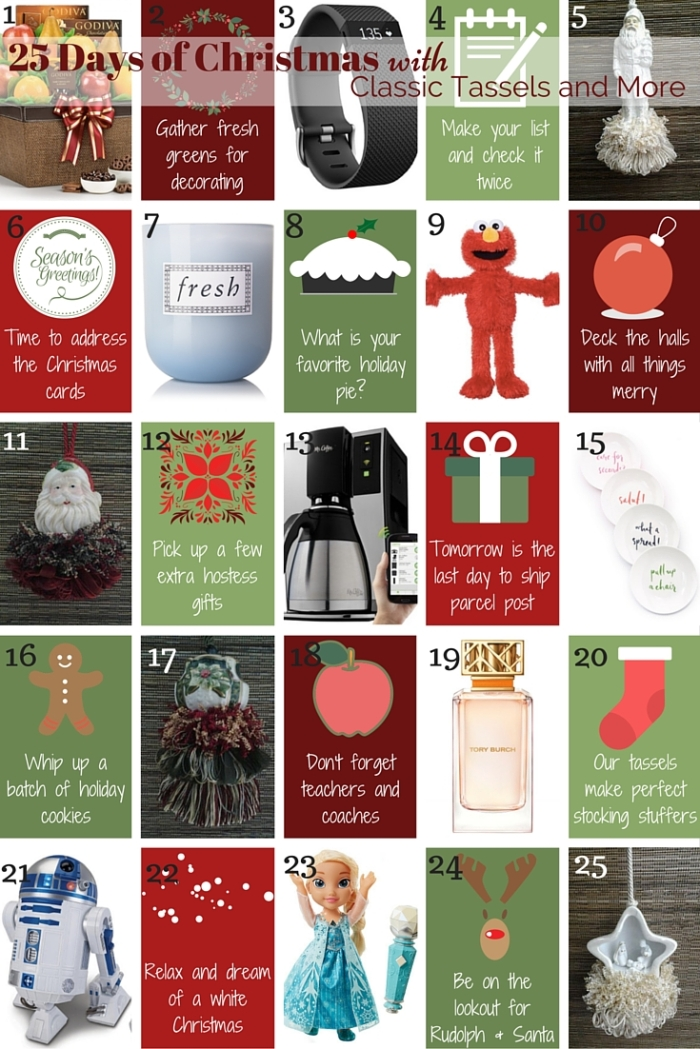 25 Days of Christmas|classictasselsandmore.com