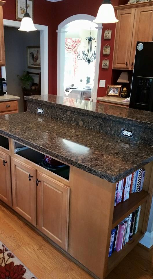 Before and After Pictures: A Kitchen Renovation Project|CounterInstall2|classictasselsandmore.com