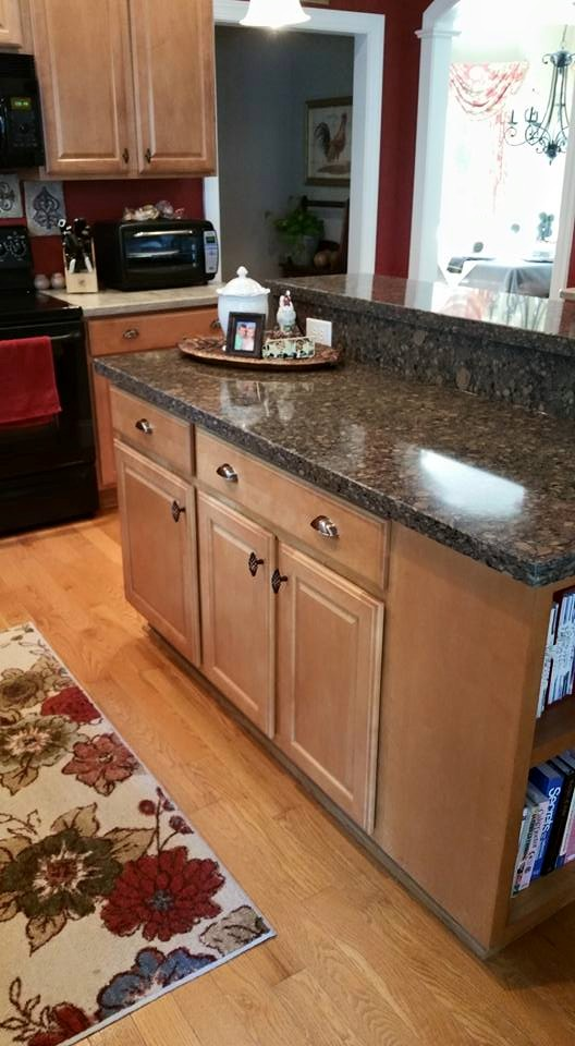 Before and After Pictures: A Kitchen Renovation Project|CounterInstall4|classictasselsandmore.com