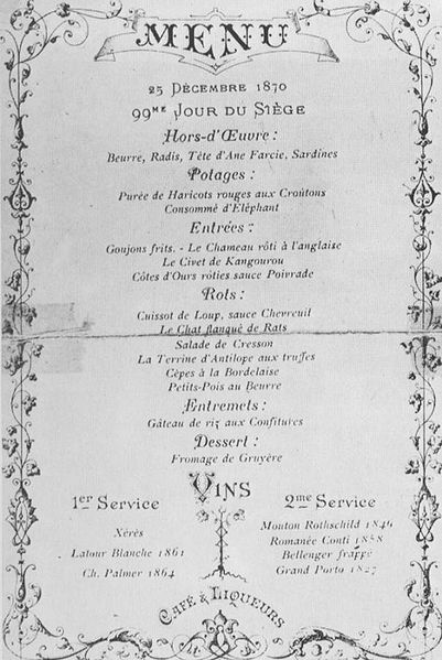 A Look Back in Time: Vintage Christmas Menus-Paris1870|classictasselsandmore.com