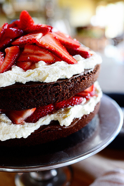 National Chocolate Cake Day: Which Cake Would You Bake?-Chocolate Strawberry Nutella Cake-PW|classictasselsandmore.com