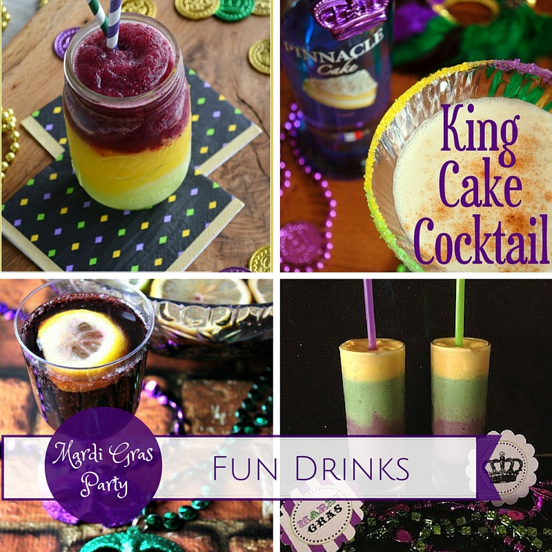 Mardi Gras Party Ideas: Fun Drinks|classictasselsandmore.com
