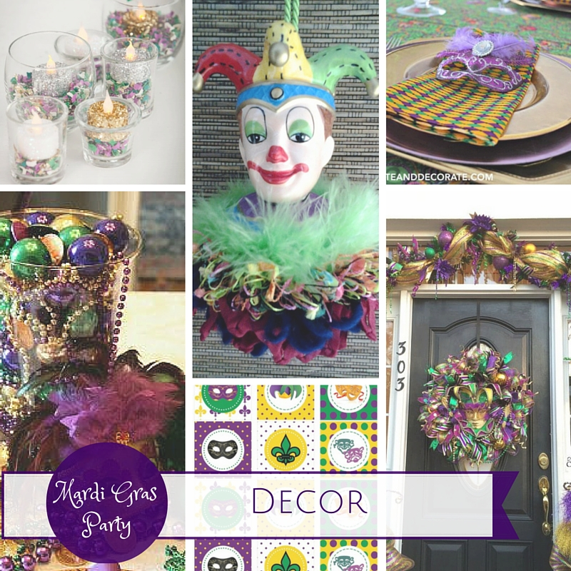 Mardi Gras Party Ideas: Decor|classictasselsandmore.com