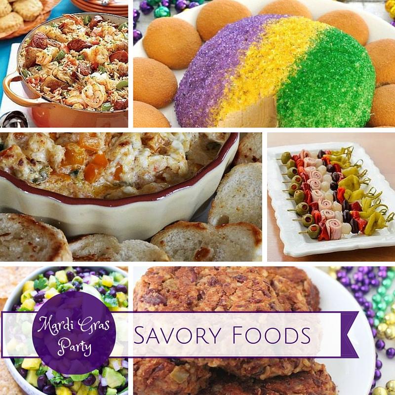 Mardi Gras Party Ideas Savory Foods