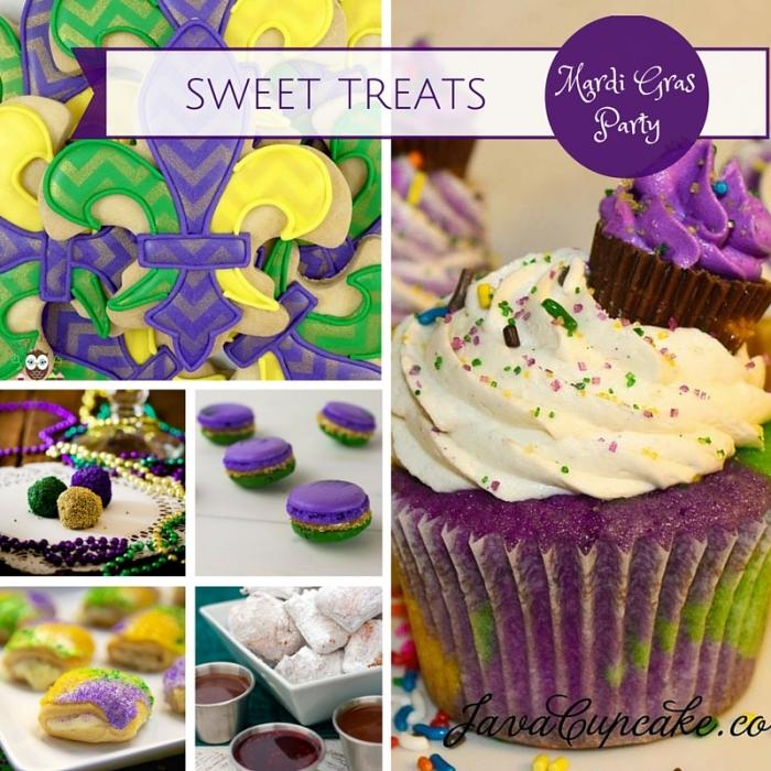 Mardi Gras Party Ideas: Sweet Treats|classictasselsandmore.com