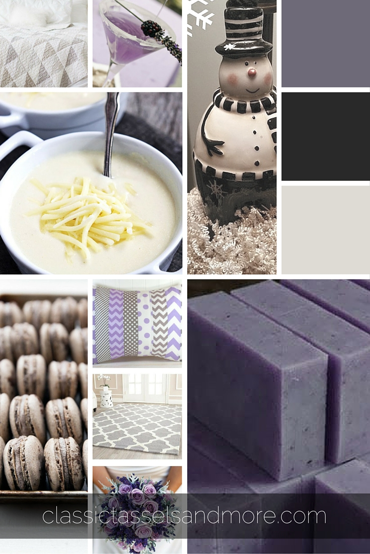 A January Mood Board - Mellow Lavenders and Grays|classictasselsandmore.com