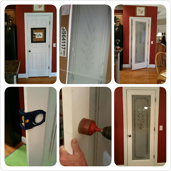 Before and After Pictures: A Frosted Pantry Door Update-Collage|classictasselsandmore.com