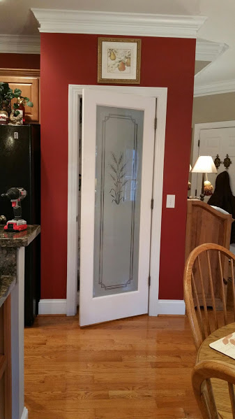 Before and After Pictures: A Frosted Pantry Door Update-During2|classictasselsandmore.com