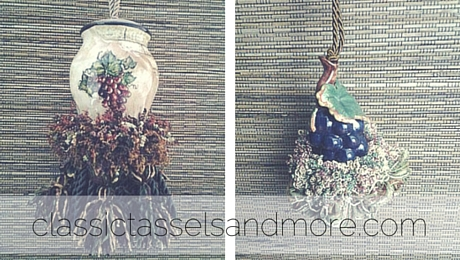 Napa Barrel Tassel and Grape Vine Tassel|classictasselsandmore.com