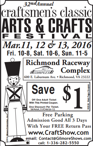 Craftsmen Classic Richmond Spring 2016 Coupon Pic|classictasselsandmore.com