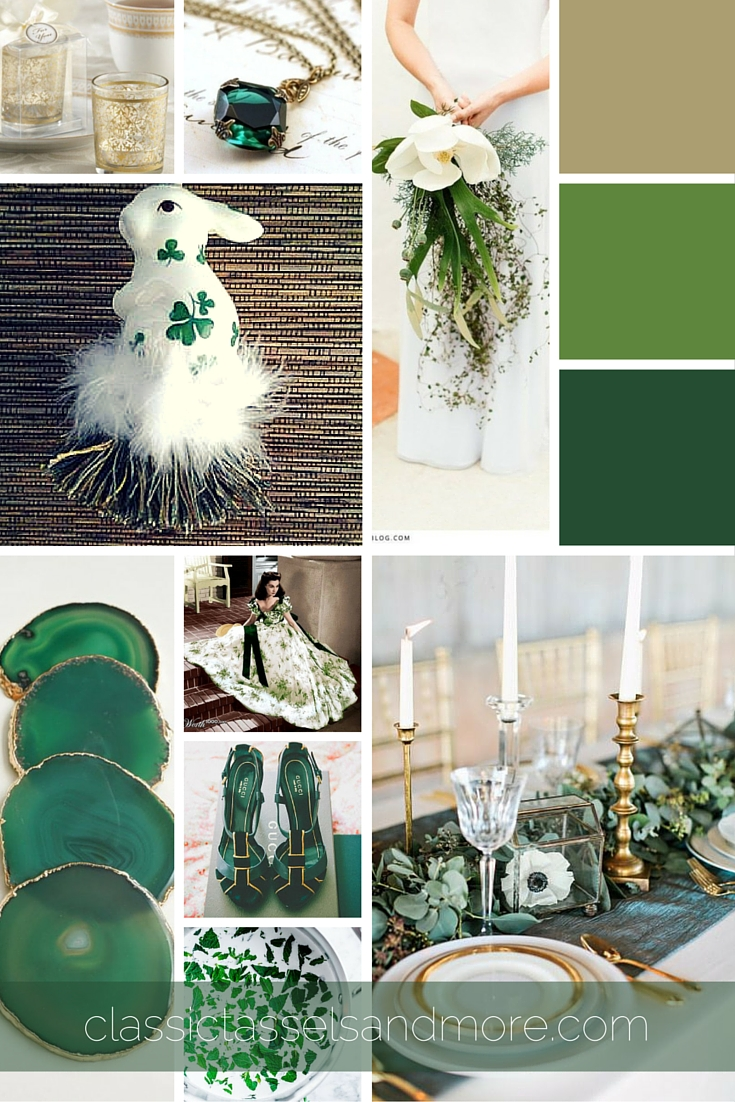 A March Mood Board: Celebrating Irish Pride with Green and Gold|classictasselsandmore.com