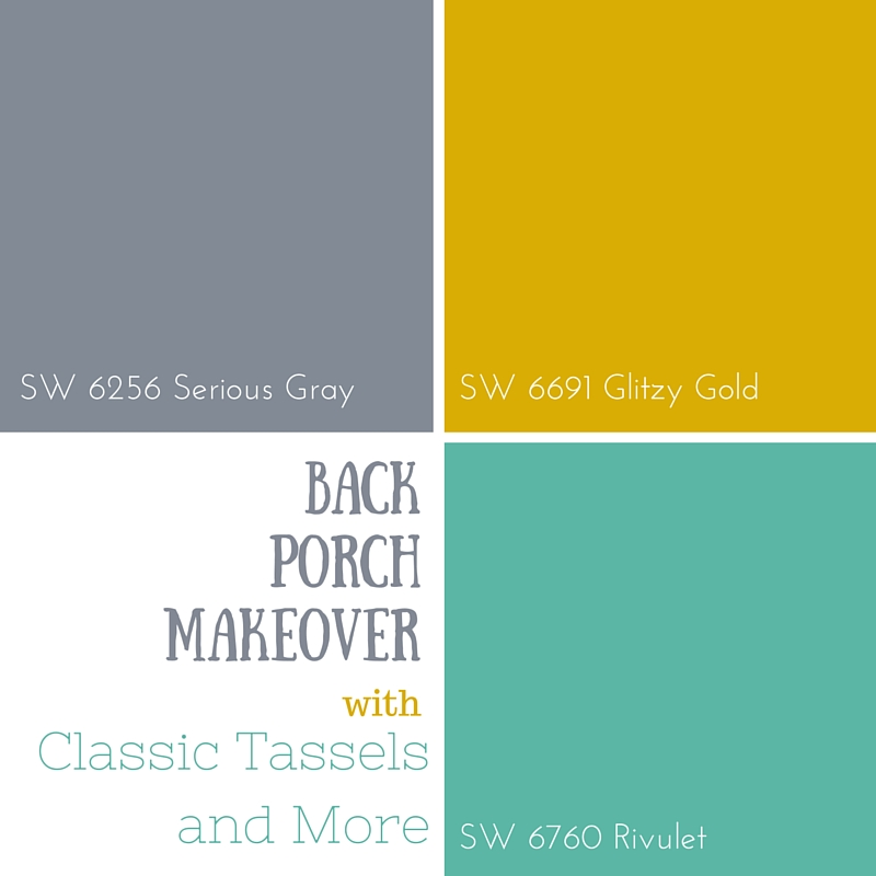 Sneak Peek: Back Porch Makeover Coming Soon-Palette|classictasselsandmore.com