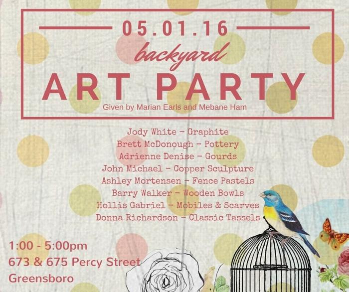 Backyard Art Party 5.1.16|classictasselsandmore.com