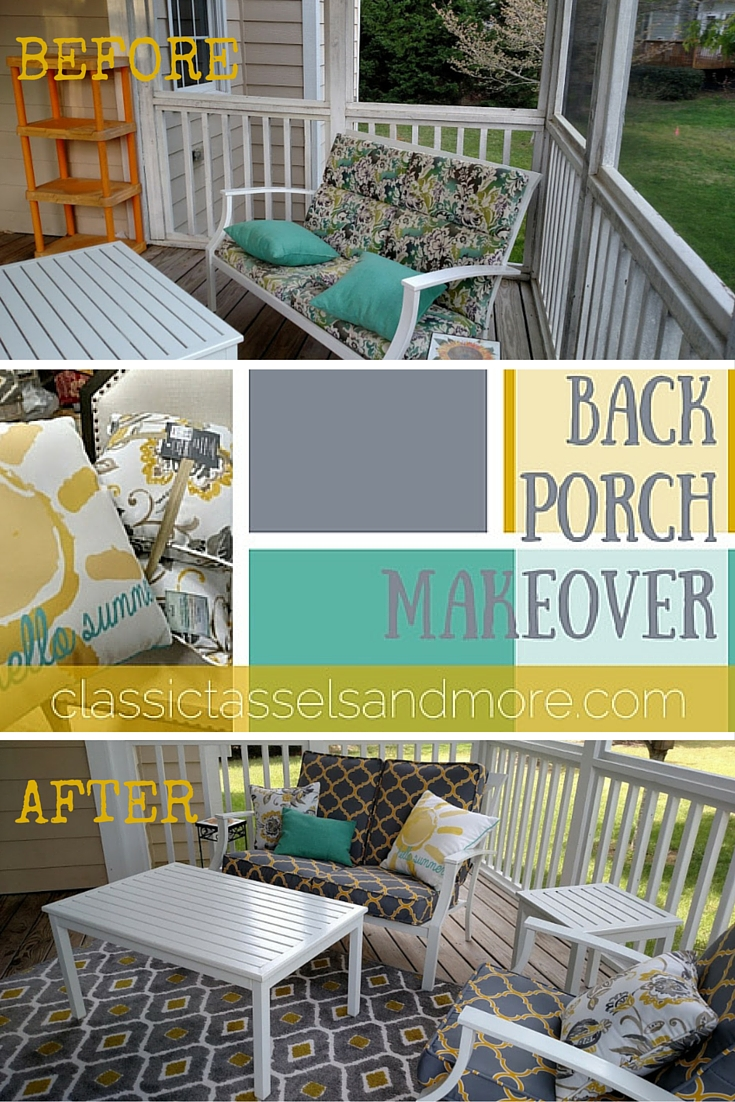 Before & After: Back Porch Makeover | www.classictasselsandmore.com