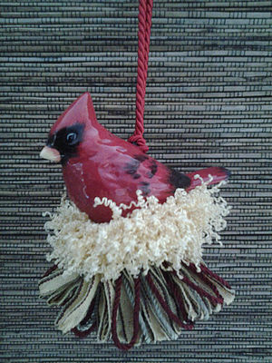 Ceramic Red Cardinal Tassel|classictasselsandmore.com
