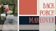 Before and After: (Another) Back Porch Makeover | www.classictasselsandmore.com