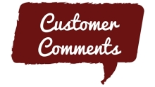 Customer Comments Speech Bubble | www.classictasselsandmore.com
