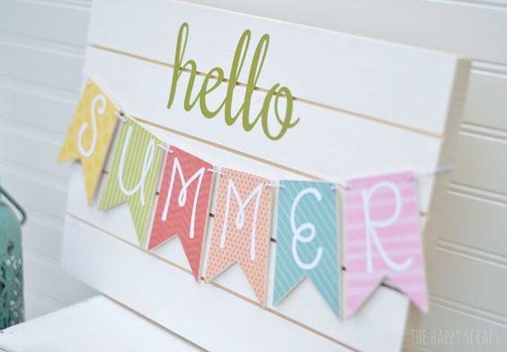 DIY Summer Banner