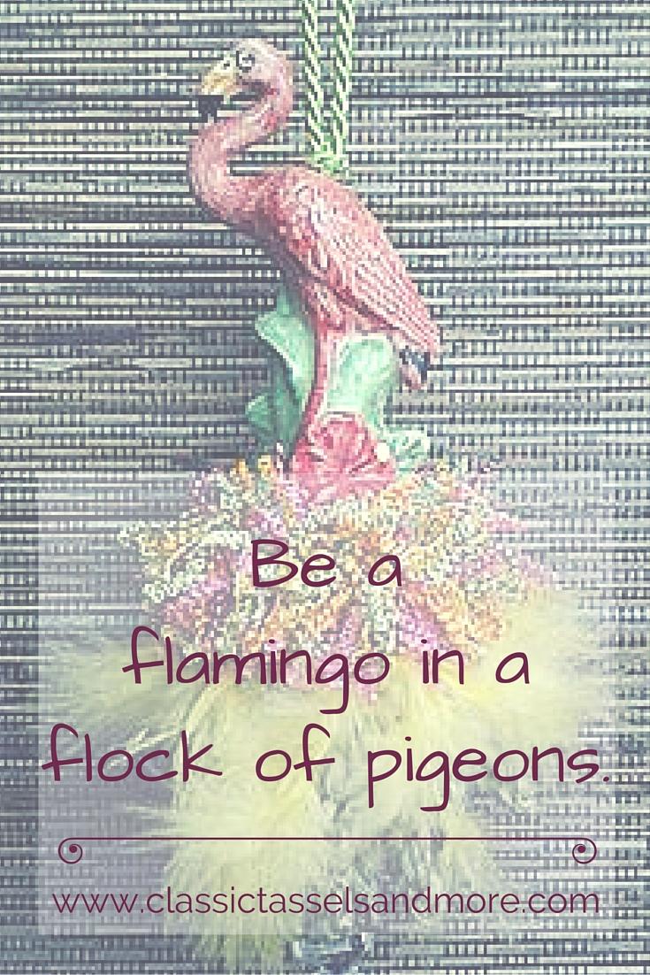Flamingo Tassel | www.classictasselsandmore.com