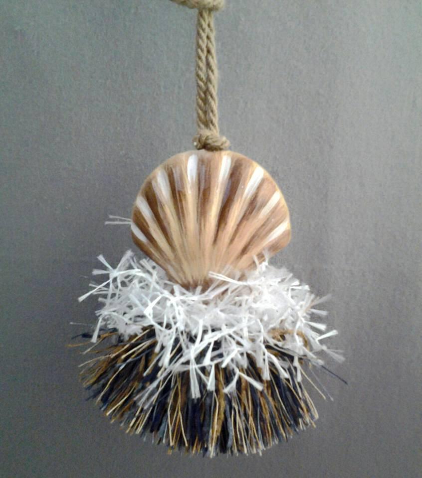 Zig Zag Sea Shell Tassel | www.classictasselsandmore.com