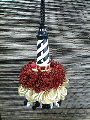 Black and White Lighthouse Tassel | www.classictasselsandmore.com