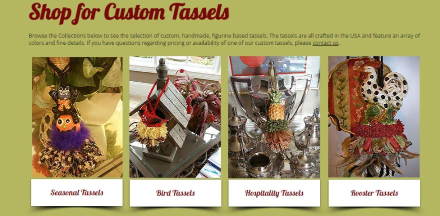 Shop for Custom Tassels | www.classictasselsandmore.com