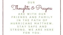 Hurricane Matthew - FI   www.classictasselsandmore.com